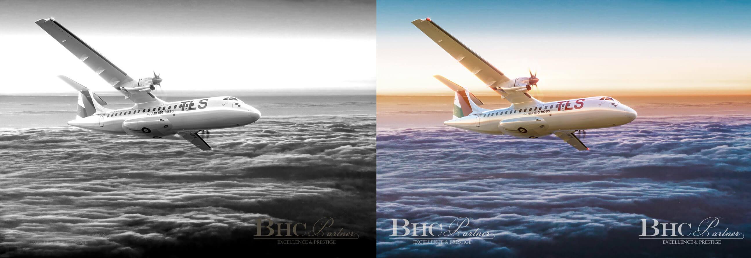Avion Bi Turbo Propulseur
