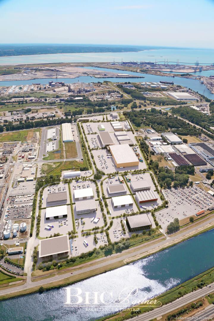 Extension du port du Havre